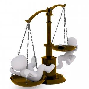 squilibrio tra due cose